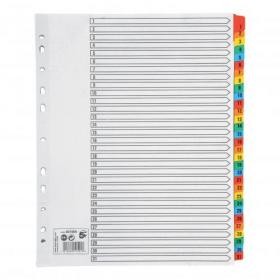 5 Star Office Maxi Index 1-31 Multipunched Mylar-reinforced Multicolour-Tabs 150gsm Extra Wide A4+ White
