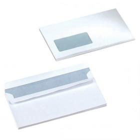 5 Star Office Envelopes PEFC Wallet Self Seal Window 90gsm DL 220x110mm White Pack of 500