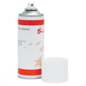 5 Star Office Anti-static Foam Cleaner General Purpose 400ml Can