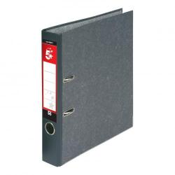 Cheap Stationery Supply of 5 Star Office Mini Lever Arch File 50mm Spine A4 Cloudy Grey Pack of 10 Office Statationery