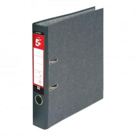5 Star Office Mini Lever Arch File 50mm Spine A4 Cloudy Grey Pack of 10
