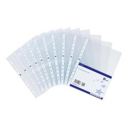 Cheap Stationery Supply of 5 Star Elite Presentation Punched Pocket Polypropylene Top-opening 90 Micron A4 Glass Clear Pack of 10 Office Statationery