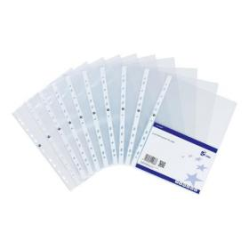 5 Star Elite Presentation Punched Pocket Polypropylene Top-opening 90 Micron A4 Glass Clear Pack of 10