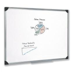 Cheap Stationery Supply of 5 Star Office Whiteboard Drywipe Magnetic with Pen Tray and Aluminium Trim W1200xH900mm Office Statationery