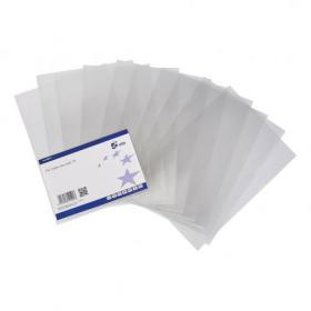 5 Star Elite Folder Cut Flush Polypropylene Top and Side Opening 135 Micron A4 Glass Clear Pack of 10