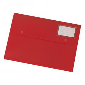 5 Star Office Document Wallet with Card Holder Polypropylene A4 Red Pack of 3