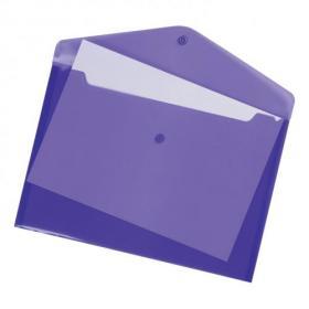 5 Star Office Envelope Stud Wallet Polypropylene A4 Translucent Assorted Pack of 25