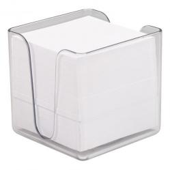 Cheap Stationery Supply of 5 Star Office Noteholder Cube Transparent with Approx. 750 Sheets of Plain Paper 90x90mm White Office Statationery