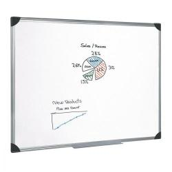 Cheap Stationery Supply of 5 Star Office Whiteboard Drywipe Magnetic with Pen Tray and Aluminium Trim W1800xH1200mm Office Statationery