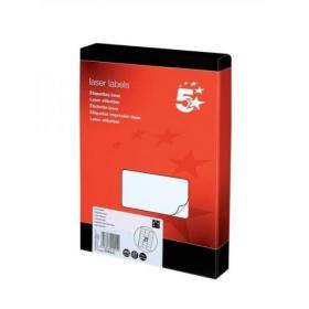 5 Star Office Multipurpose Labels Laser Copier Inkjet 21 per Sheet 63.5x38.1mm White 5250 Labels