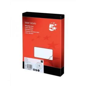 5 Star Office Multipurpose Labels Laser Copier Inkjet 16 per Sheet 99.1x34mm White 4000 Labels