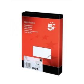 5 Star Office Multipurpose Labels Laser Copier Inkjet 14 per Sheet 99.1x38.1mm White 3500 Labels