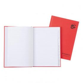 5 Star Office Manuscript Notebook Casebound 70gsm Ruled and Indexed 192pp A5 Red Pack of 5