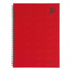 Cheap Stationery Supply of 5 Star Office Manuscript Notebook Wirebound 70gsm Ruled 160pp A4 Red Pack of 5 Office Statationery