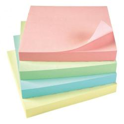 Cheap Stationery Supply of 5 Star Office Re-Move Notes Repositionable Pastel Pad of 100 Sheets 76x76mm Assorted Pack of 12 Office Statationery