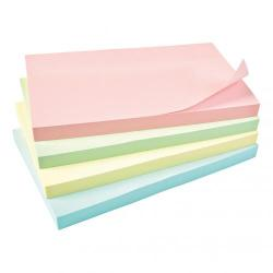 Cheap Stationery Supply of 5 Star Office Re-Move Notes Repositionable Pastel Pad of 100 Sheets 76x127mm Assorted Pack of 12 Office Statationery