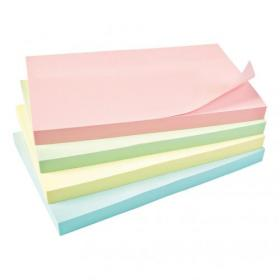 5 Star Office Re-Move Notes Repositionable Pastel Pad of 100 Sheets 76x127mm Assorted Pack of 12