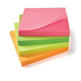 5 Star Office Re-Move Notes Repositionable Neon Pad of 100 Sheets 76x76mm Assorted Pack of 12