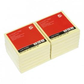 5 Star Office Re-Move Notes Concertina Pad of 100 Sheets 76x76mm Yellow Pack of 12