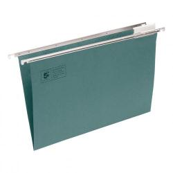 Cheap Stationery Supply of 5 Star Office Suspension File with Tabs and Inserts Manilla 15mm V-base 180gsm A4 Green Pack of 50 Office Statationery