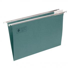 5 Star Office Suspension File with Tabs and Inserts Manilla 15mm V-base 180gsm A4 Green Pack of 50