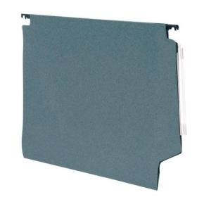 5 Star Office Lateral Suspension File Manilla 15mm V-base 180gsm Foolscap Green Pack of 50