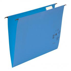 5 Star Office Suspension File with Tabs and Inserts Manilla 15mm V-base 230gsm Foolscap Blue Pack of 50
