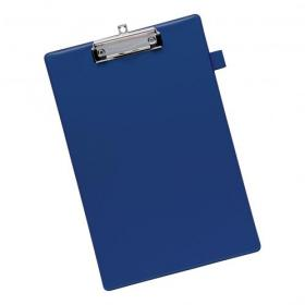 5 Star Office Standard Clipboard with PVC Cover Foolscap Blue