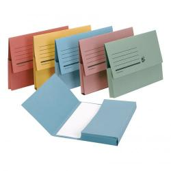 Cheap Stationery Supply of 5 Star Office Document Wallet Half Flap 285gsm Recycled Capacity 32mm A4 Assorted Pack of 50 Office Statationery