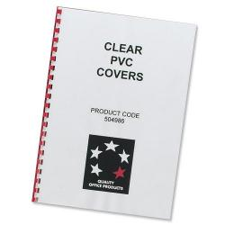Cheap Stationery Supply of 5 Star Office Comb Binding Covers PVC 150 micron A4 Clear Pack of 100 Office Statationery