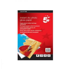 5 Star Office Photo Inkjet Paper Gloss 175gsm A4 White 50 Sheets