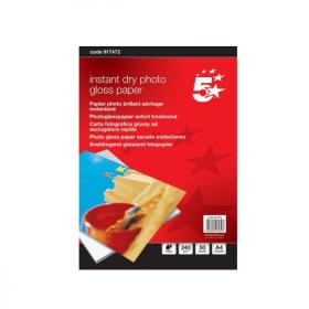 5 Star Office Photo Inkjet Paper Gloss 240gsm A4 White 50 Sheets