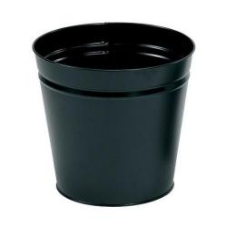 Cheap Stationery Supply of 5 Star Facilities Waste Bin Round Metal Scratch Resistant 15 Litre Capacity 300x280mm Black Office Statationery