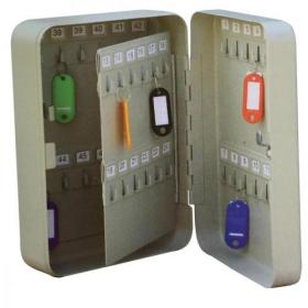 5 Star Facilities Key Cabinet Steel Lockable with Wall Fixings Holds 48 Keys W180xD80xH250mm