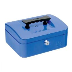 Cheap Stationery Supply of 5 Star Facilities Cash Box with 5-compartment Tray Steel Spring Lock 8 Inch W200xD160xH70mm Blue Office Statationery