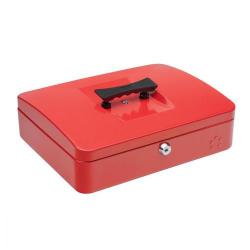 Cheap Stationery Supply of 5 Star Facilities Cash Box with 5-compartment Tray Steel Spring Lock 12 Inch W300xD240xH70mm Red Office Statationery