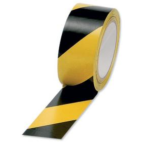Hazard Tape Soft PVC Adhesive 50mmx33m Black and Yellow