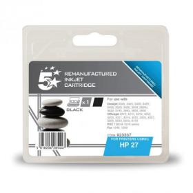 5 Star Office Remanufactured Inkjet Cartridge Page Life 280pp 10ml Black HP No.27 C8727A Alternative