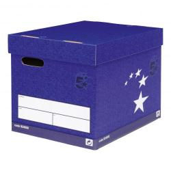 Cheap Stationery Supply of 5 Star Elite FSC Superstrong Archive Storage Box & Lid Self-assembly W313xD415xH326mm Blue Pack of 10 Office Statationery