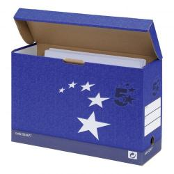 Cheap Stationery Supply of 5 Star Elite Transfer Case Hinged Lid Foolscap Blue Pack of 10 Office Statationery