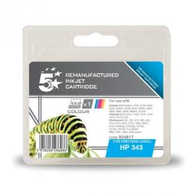 5 Star Office Remanufactured Inkjet Cart Page Life 260pp 7ml Tri-Colour HP No.343 C8766EE Alternative