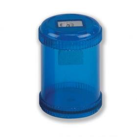 5 Star Office Pencil Sharpener Plastic Canister One Hole Max. Diameter 8mm Blue