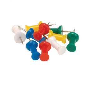 5 Star Office Push Pins 7mm Head Assorted Opaque Pack of 20