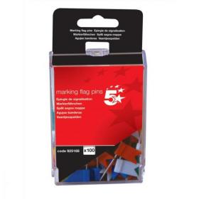 5 Star Office Marking Flags Assorted Pack of 100
