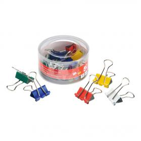 5 Star Office Foldback Clips 19mm Assorted Colours Pack of 12