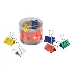 Cheap Stationery Supply of 5 Star Office Foldback Clips 32mm Assorted Colours Pack of 12 Office Statationery