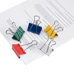Cheap Stationery Supply of 5 Star Office Foldback Clips 41mm Assorted Colours Pack of 12 Office Statationery