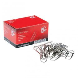 Cheap Stationery Supply of 5 Star Office Paperclips No Tear Extra Large Length 33mm Pack of 10x100 Office Statationery