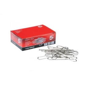 5 Star Office Giant Paperclips Metal Extra Large Length 51mm Plain Pack of 100