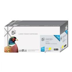 Cheap Stationery Supply of 5 Star Office Remanufactured Laser Toner Cartridge Page Life 2000pp Yellow HP 124A Q6002A Alternative Office Statationery